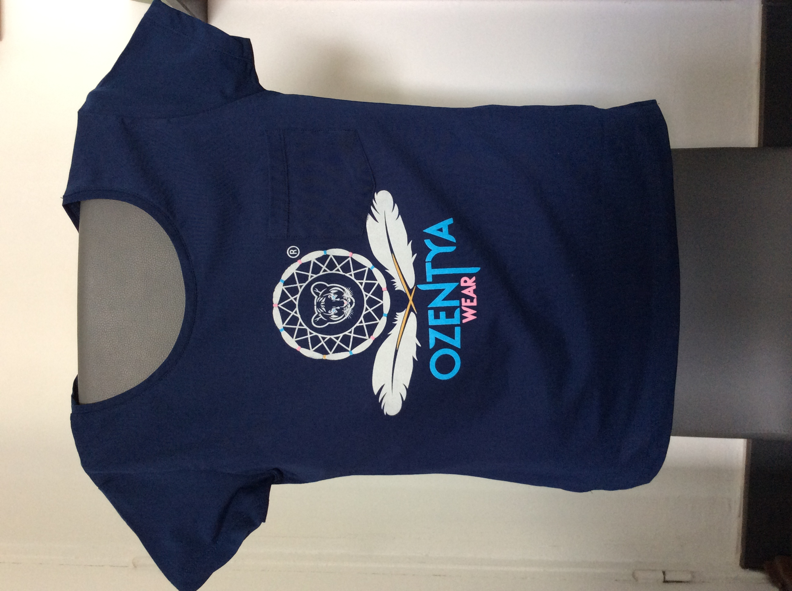 T-shirt bleu Ozentya wear
